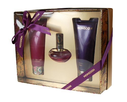 Monsoon Gift Set includes Eau de Toilette 30ml/Body Cream 100ml/Bath and Shower Cream 100ml