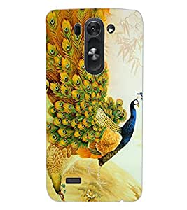 ColourCraft Beautiful Peacock Design Back Case Cover for LG D722K
