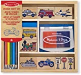Melissa & Doug Wooden Vehicles Stamp Set