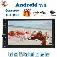 """Android 7.1 Octa-core radio del coche de 2 GB + 32 GB estéreo de 7"""" Car Multimedia Player construir en 3D GPS Mapa de la ayuda Doble 2Din coche Autoradio reserva de la cámara inalámbrica Bluetooth WIFI 4G Teléfono Enlace DAB + OBD2 USB / SD +"""