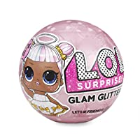 Includes 7 surprises! (1) secret message sticker, (2) collectible stickers, (3) water bottle, (4) shoes, (5) outfit, (6) fashion accessory, and (7) L.O.L. Surprise! glam glitter doll Feed or bathe your L.O.L. Surprise! glam glitter doll to di...