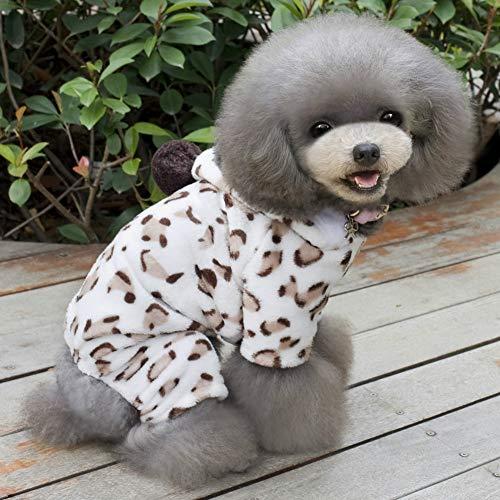 SSH Katze Hund Kapuzenshirts Overall Pyjamas Hundekleidung Punkt Leoparden-Print Polar-Fleece Kostüm Für Husky Labrador Golden Retriever Herrn Damen (Labrador Retriever Kostüm)