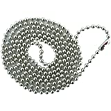 3 piezas Ball chain, metal, nickel-plated 76 cm