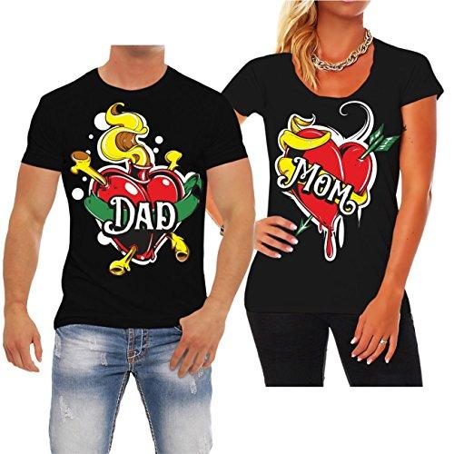 Partnershirt DAD & MOM MANN schwarz