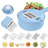Jeslon Vegetable Mandoline Slicer - 10 in 1 Vegetable Spiralizer Cutter and Shredder