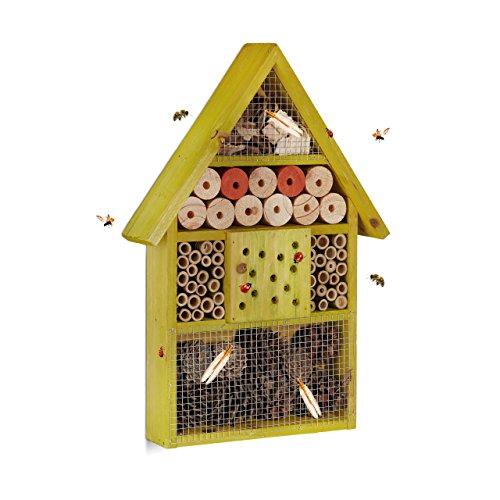 Relaxdays Casetta per Insetti api Selvatiche Coccinelle crisopidi da Balcone Giardino...