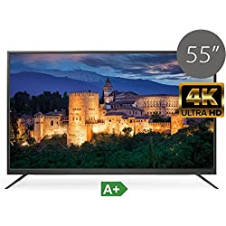 "TV LED UHD 4K TDSystems 55"" Pulgadas Ultra HD K55DLS6U (Resolución 3840x2160/VGA 1/HDMI 2/Eur 1/USB Reproductor y grabador) TV LED Televisor Ultra HD"