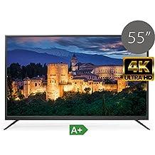 "TV LED UHD 4K TDSystems 55"" Pulgadas Ultra HD K55DLM6U (Resolución 3840x2160/VGA 1/HDMI 2/Eur 1/USB Reproductor y grabador) TV LED Televisor Ultra HD"