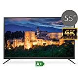 "TV LED UHD 4K TDSystems 55"" Pulgadas Ultra HD K55DLM6U (Resolución 3840x2160/VGA 1/HDMI 2/Eur 1/USB Reproductor y grabador) TV LED Televisor Ultra HD"