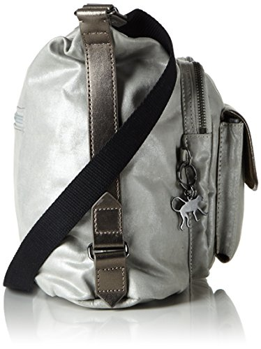 Kipling - Chipper, Borse a tracolla Donna Argento (Moon Metal)