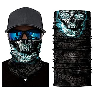 ARUNDEL SERVICES EU N75 Ice Skull Tubular Protective Dust Mask Bandana Motorcycle Polyester Scarf Face Neck Warmer for Snowboard Paintball Skiing Motorcycle Biking