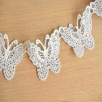Kineca Ahuecan hacia Fuera el cordón del Bordado stickwork Etiqueta Mariposa de Tela Ropa Apliques Decal