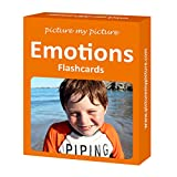 Feelings and Emotions Flash Cards: 40 Emotion Language Photo Cards