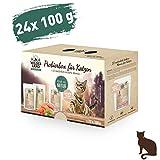 Wildes Land   Nassfutter für Katzen   Mix   24 x 100 g   Getreidefrei   Extra viel Fleisch   Beste Akzeptanz und Verträglichkeit