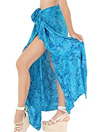 La Leela Beach Women's Swimwear Swimsuit Bikini Cover up Wrap Skirt Dress
