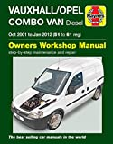 Vauxhall / Opel Combo Van Diesel 2001 to Jan 2012 Haynes Manual 6362