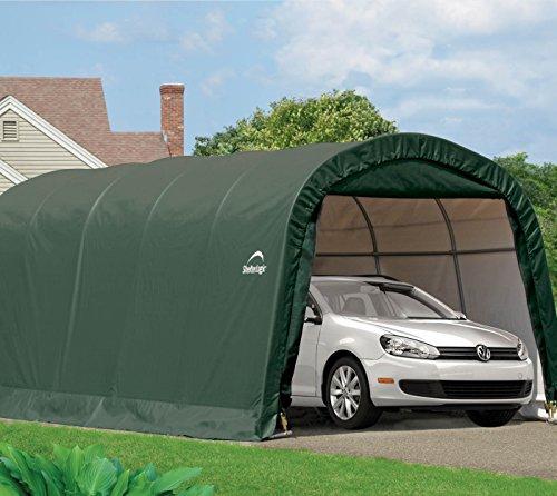 Shelter Logic Round Frame Garage-in-a-Box Foliengarage Foliengerätehaus 18,3m² // 300 x 610 x 240 cm (BxTxH); Aufbewahrungsschuppen