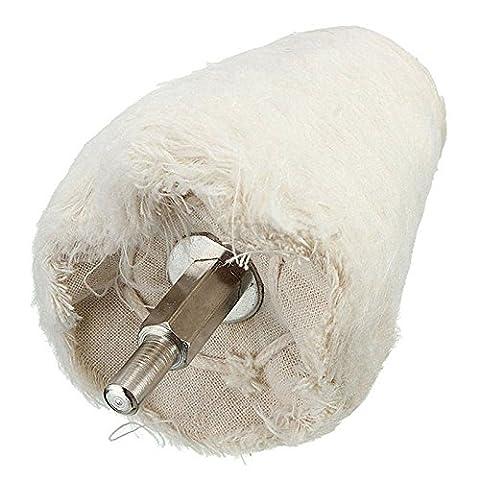 soviton 1Polieren Polieren Rad Schaft Bürste weiß Konus keilförmig Rotary Gewebe Baumwolle