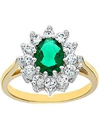 Citerna Damen-Ring 9 Karat (375) Gelbgold Zirkonia DIV 086L-p