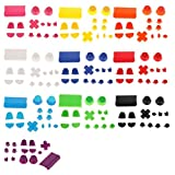SLB Works 3 Set Grip Cap Buttons Mod for PS4 Game Controller White+Red+Black