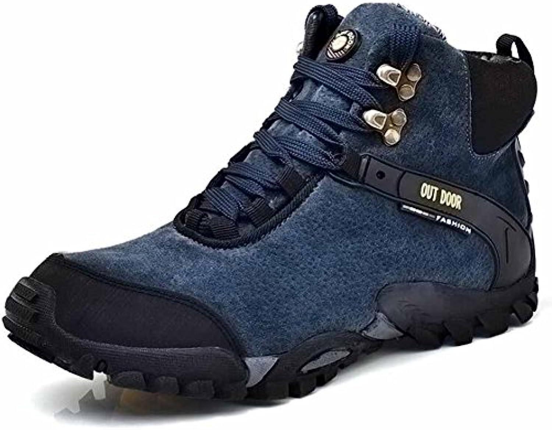 Hombres Al Aire Libre Deportes Alpinismo Zapatos Otoño Invierno Cima Mas Alta Forro Polar Calentar Para Caminar