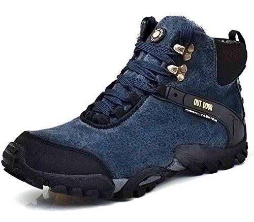 Hommes Outdoor Sports Escalade Chaussures Automne Hiver Haut Polaire Doublé Chaussures De Marche Chaude