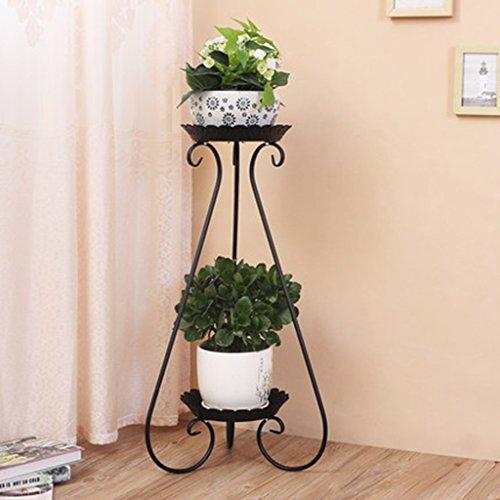 Fleur Pot Herb Présentoir Ronde Noir Maison Jardin Patio Décor Présentoir Fer 36 * 80 CM ( taille : 36*80CM )