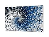 GRAZDesign 100749_80x50_FX Wandbild Abstrakt Hartschaumbilder für Wohnzimmer Spirale Kunst Muster | Wand-Deko XXL (80x50cm)