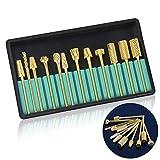 Professional Electric Nail Drill Bits Set 3/32'' Gold Carbide Nail Art Bit Tools