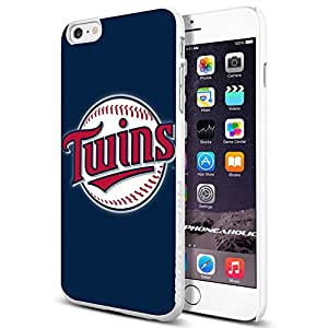 MLB Minnesota Twins Baseball,Cool iPhone 6 Plus (6+ , 5.5 Inch) Smartphone Case Cover Collector iphone TPU Rubber Case White