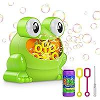 RenFox Automatic Maquina Burbujas Máquina de Soplado de Burbujas Portátil, Niños Bubble Blowing Haga más