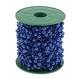1 Rotolo 60 M Perle Artificiali Perline Ghirlanda Copricapo Catena Artigianato Cardmaking - Blu Reale, 60m