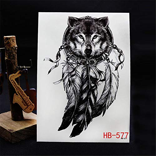 adgkitb Tiger Tattoo Applique Arm Tattoo Aufkleber Big Picture Tattoo Blue Arm Sticker 3 21 * 15CM -