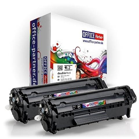 2x Compatible Canon FX-10 (noir) – Supérieure Qualité Toner pour Canon i-SENSYS MF4350D / MF4330D /MF4370DN / MF4010 / MF4120 / MF4140 / MF4150 / MF4270 / MF4320D / MF4340D / MF4380DN / MF4660PL / MF4690PL