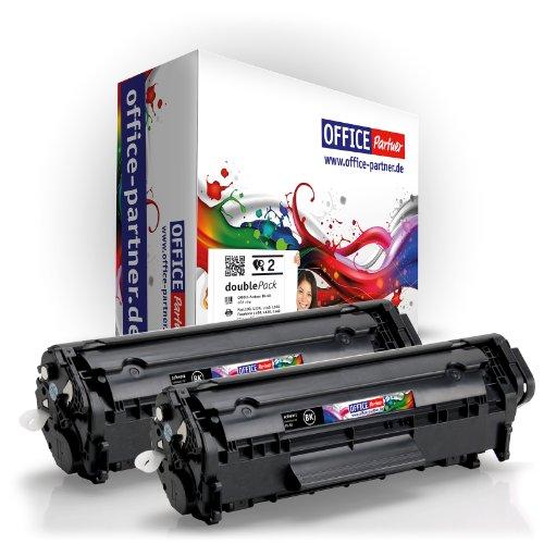 OfficePartner - Cartuchos tóner para Canon FX-10 compatibles con Canon i-SENSYS MF4350D / MF4330D /MF4370DN / MF4010 / MF4120 / MF4140 / MF4150 / MF4270 / MF4320D / MF4340D / MF4380DN / MF4660PL / MF4690PL (2 unidades, color negro)