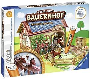 Ravensburger tiptoi 00564 - Tier-Set: Bauernhof / Erkunde spielerisch den Bauernhof und kümmere dich eigenständig um die Tiere
