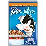Felix So gut wie es aussieht Katzenfutter Huhn und Tomate, 20er Pack (20 x 100 g) Beutel