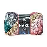 Hobbymix Nako Strickgarn Wolle zum Stricken Baumwollgarn Häkelgarn Handstrickgarn 100g Vals No 383