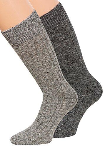 Alpaka Socken Wollsocken 100 Alpaka und Wolle dünn Herren Damen Socken mit Alpaka Wolle weich und warm, 2 Paar,Gr 39-42 (Wollsocken Dünne)