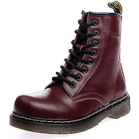 SITAILE Uomo Donna Inverno Pelliccia Neve Stivali Snow Boots caldo Stivali Cavaliere Martin Stivaletti Stringati