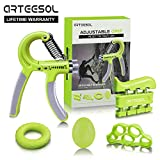 Handtrainer Fingertrainer Set, Arteesol Hand Trainingsgerät (5-50kg) 5 in 1...