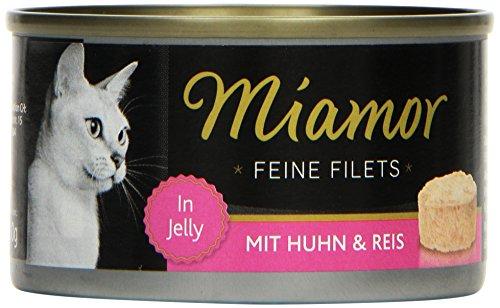 Miamor Katzenfutter Feine Filets Huhn+Reis 100 g, 24er Pack (24 x 100 g)