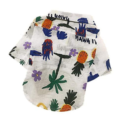 PZSSXDZW Haustierhundekostüm Frühling Mode-Shirt Bequeme Baumwolle Stilvoll und gut aussehend,White,L