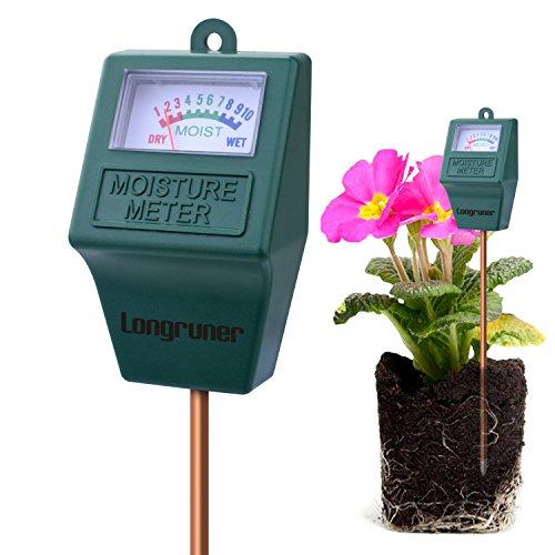 Longruner Soil Moisture Sensor Meter Tester, Soil Water Monitor, Hydrometer for Garden, Farm, Lawn Plants (Soil Moisture Sensor Meter Tester LKP02)