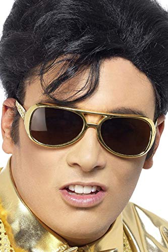 Elvis-Sonnenbrille Gold, One Size (Original-dress Up Ideen)