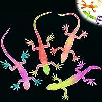 6x Echse Lurch Salamander Gecko Gummitier Preis Party Dschungelparty Mitgebsel
