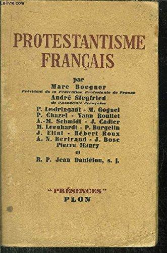 Protestantisme français.