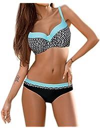 e1320973b0f7d DAY8 Maillot de Bain 2 Pièces Femme Push Up Grande Taille Sexy Tankini  Bikini Bandeau Trikini