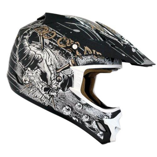 Nikko N-719 Motocrosshelm Größe L, schwarz / gold