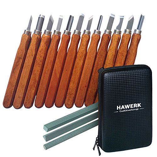 Juego herramientas tallado madera profesionales